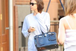 Irina Shayk Appears to Have a New Croc Birkin