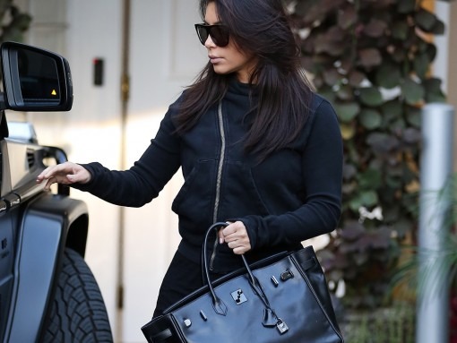 Kim Kardashian Hermes So Black Birkin