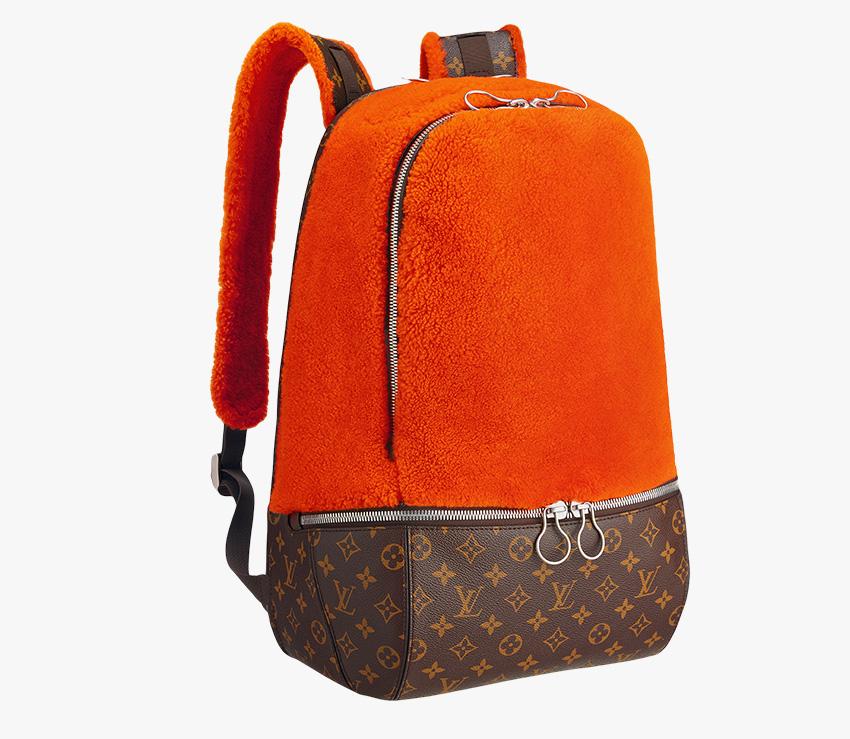 Louis Vuitton Marc Newson Fleece Backpack Orange