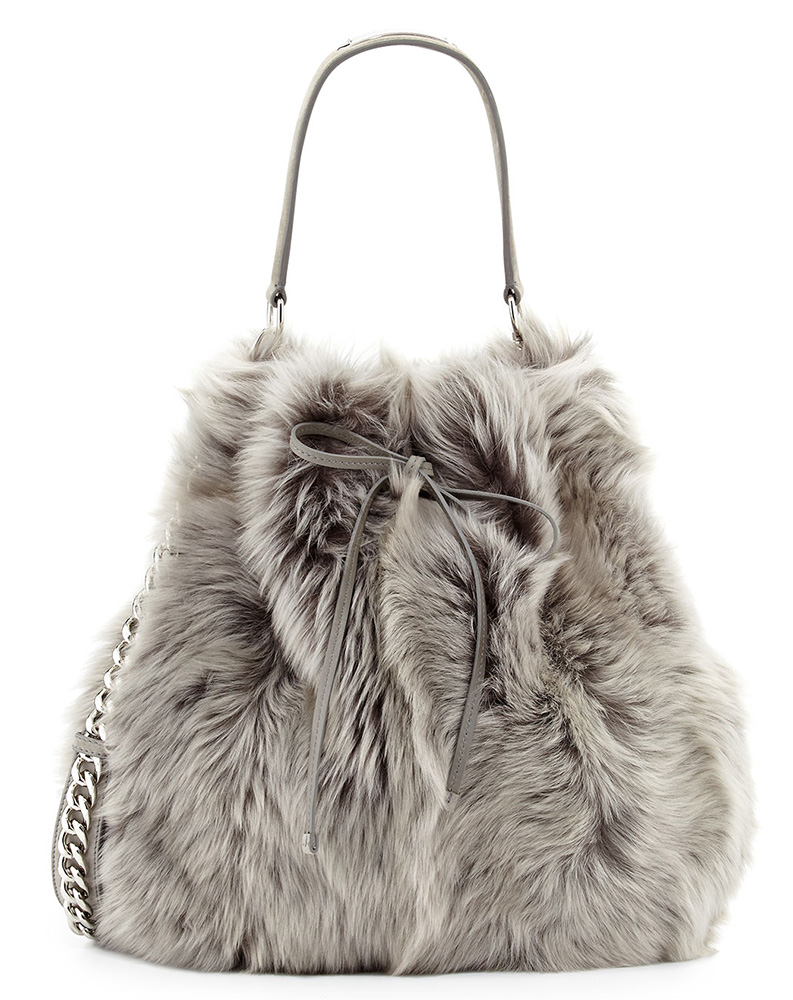 Ralph Lauren Shearling Fur Bucket Bag
