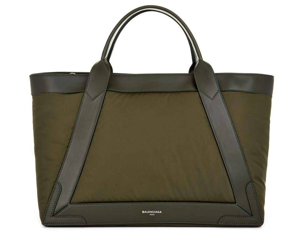 Balenciaga Cabas Nylon and Leather Tote