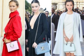 Celebrity Handbags Paris Fashion Week Spring 2015