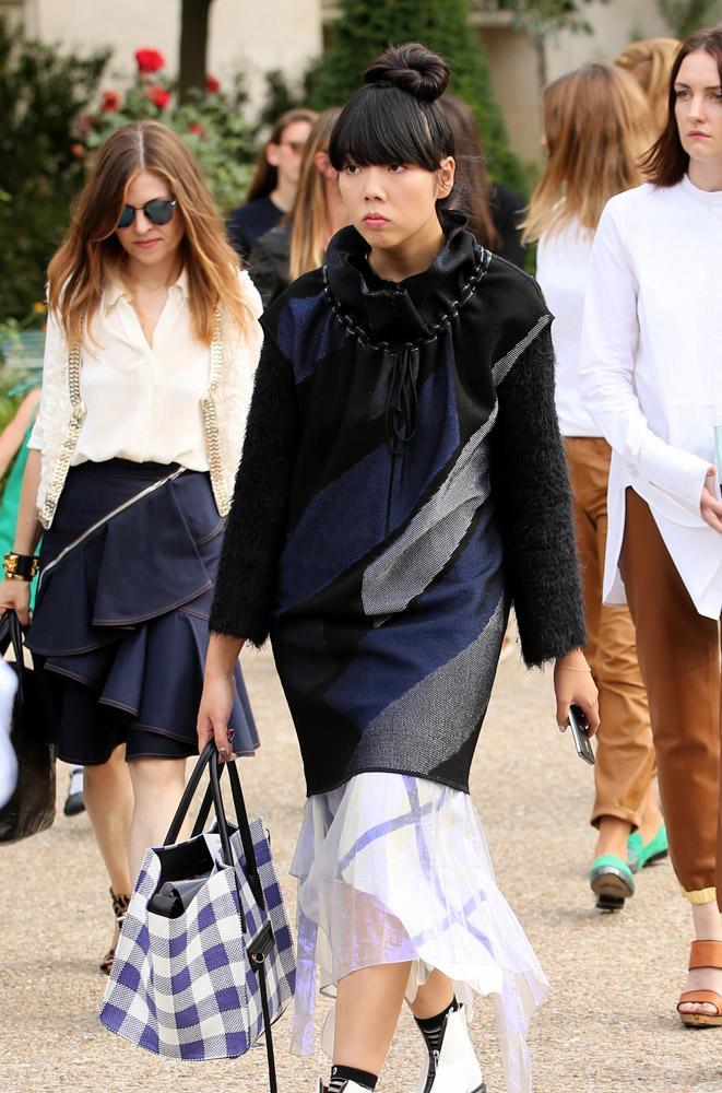 Celebrity Handbags Paris Fashion Week Spring 2015-29