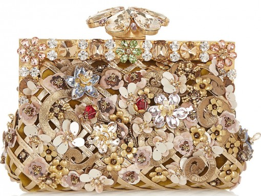 Dolce & Gabbana Vanda Flowers Clutch