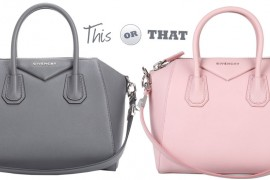 Grey or Pink? Help Me Pick a Givenchy Antigona