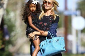 Heidi Klum Takes Her Kids to Pinkberry with a Birkin on Her Arm