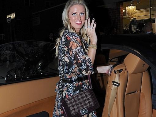 Nicky Hilton Chanel Tweed Boy Bag