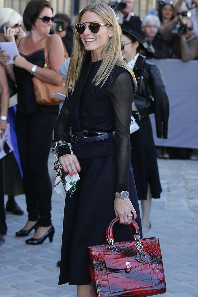 Olivia-Palermo-Dior-Lady-Dior-Pocket-Bag