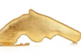 Saint Laurent Metallic Gun Clutch