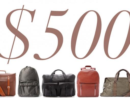 5 Under 500 Man Bags