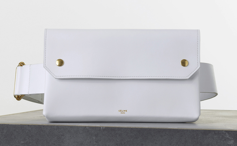 celine white handbag