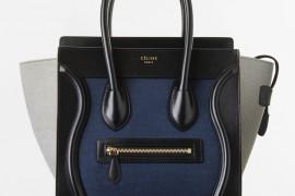 Celine Micro Tricolor Luggage Tote Textile 2350