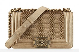 Chanel Metallic Lambskin Small Boy Bag 5000