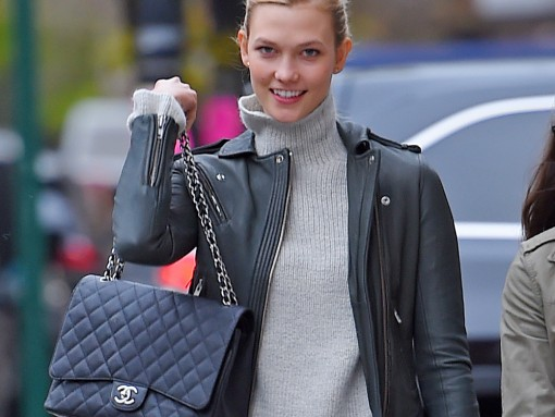 Karlie Kloss Chanel Maxi Classic Flap Bag