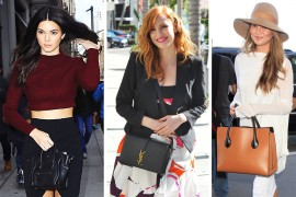 Lately, Céline and Saint Laurent are the Only Bag Choices for Cover Girls