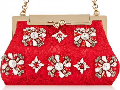 Dolce & Gabbana Sara Embellished Clutch
