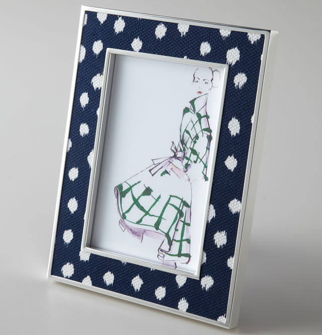 Oscar de la Renta Ikat Dot Photo Frame