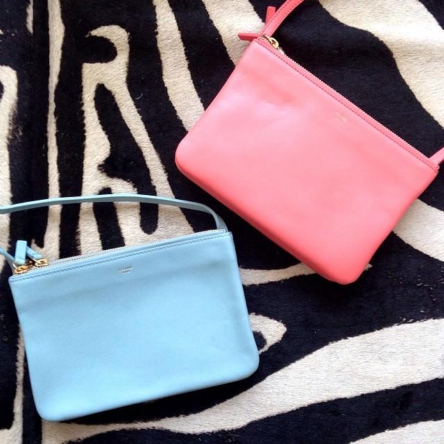 celine luggage mini black leather tote bag - 30 C��line Bags We Found on Instagram - PurseBlog