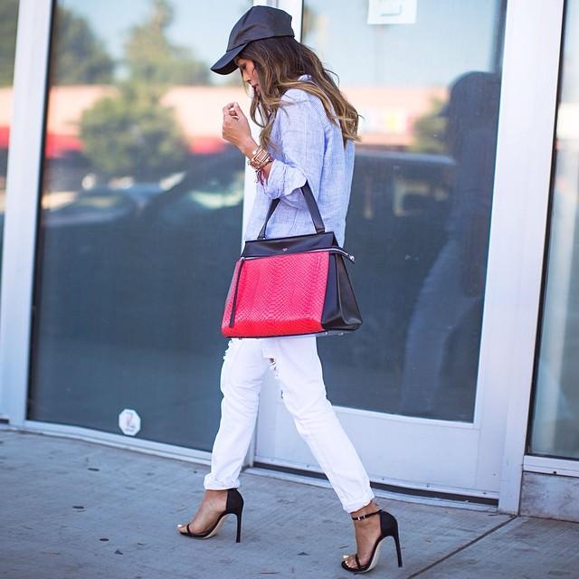 celine pink fur handbag