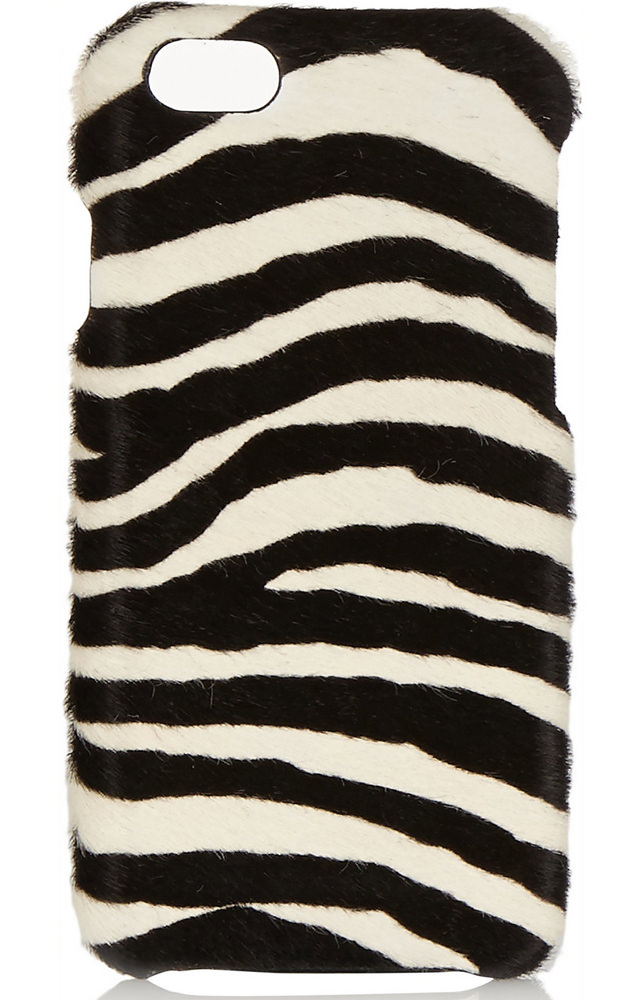 The Case Factory Zebra-Print Calf Hair iPhone 6 Case