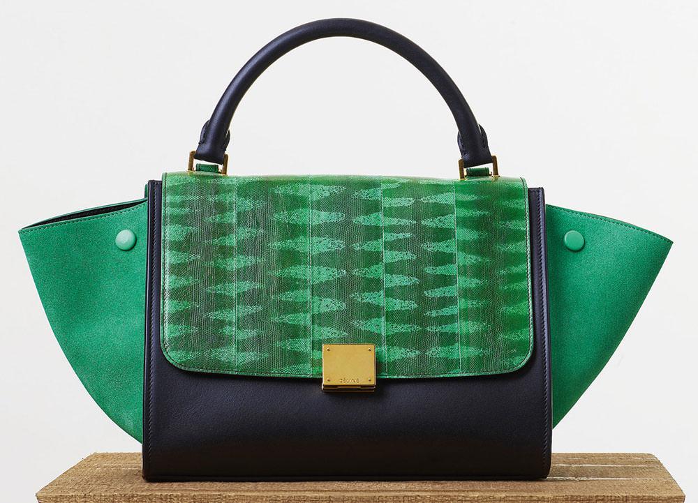celine green cotton handbag luggage phantom