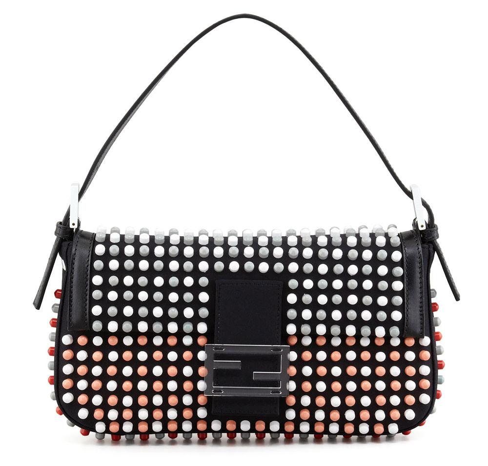 Fendi-Studded-Baguette-Bag