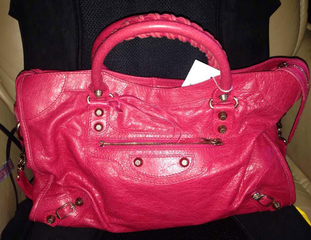 Balenciaga-City-Bag-Pink