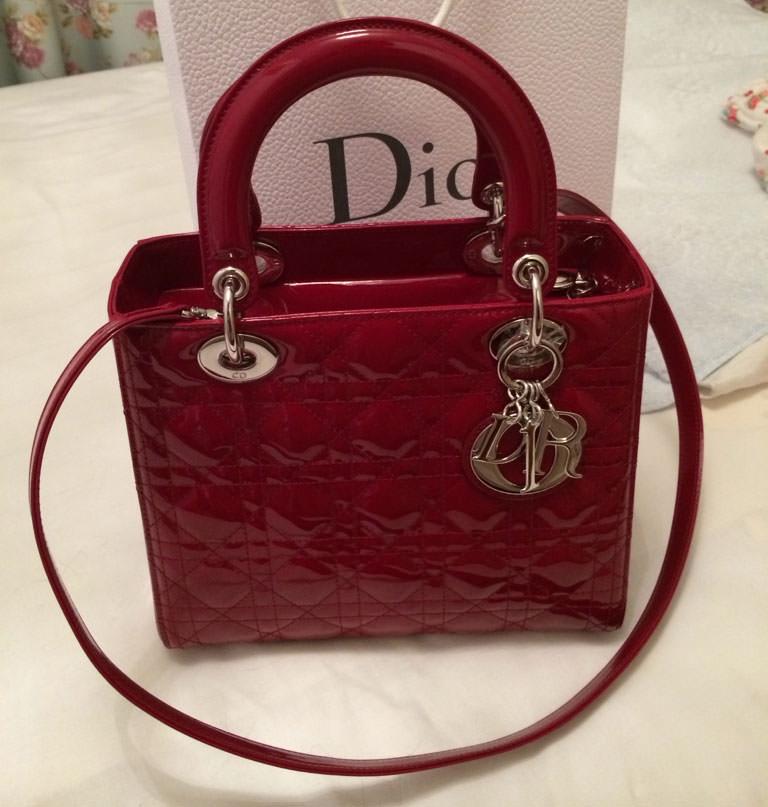 Christian-Dior-Lady-Dior-Mini-Bag-Red