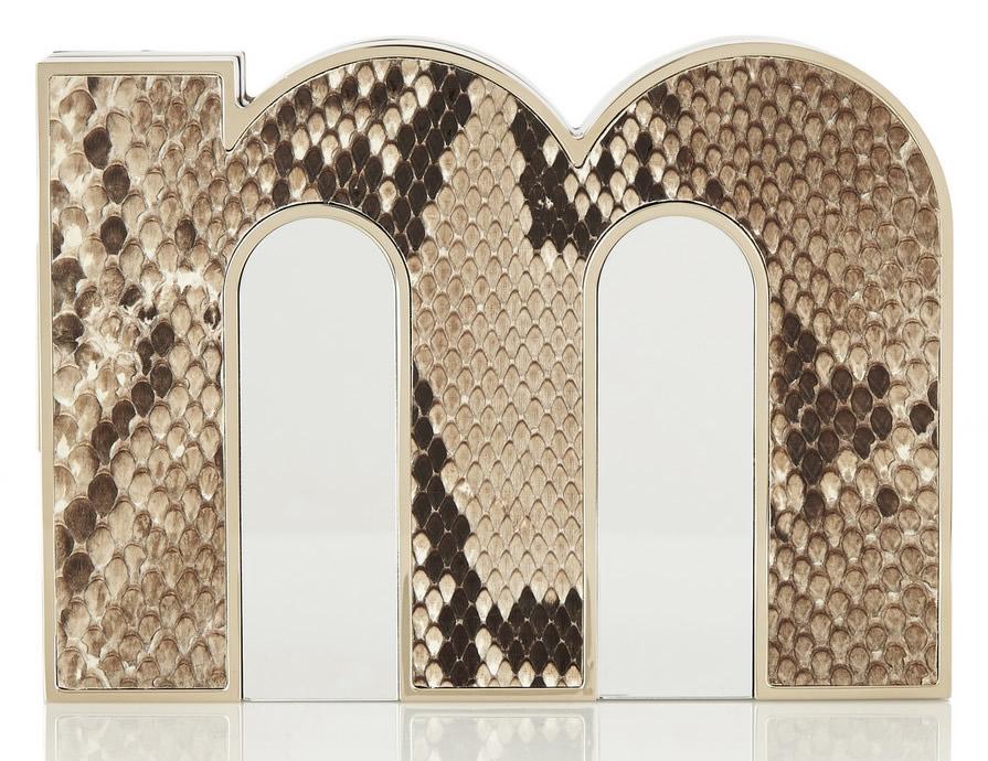 Mary Katrantzou M Python and Acrylic Clutch