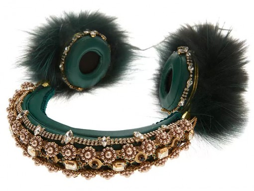 Dolce-&-Gabbana-Fox-Fur-Embellished-Leather-Headphones