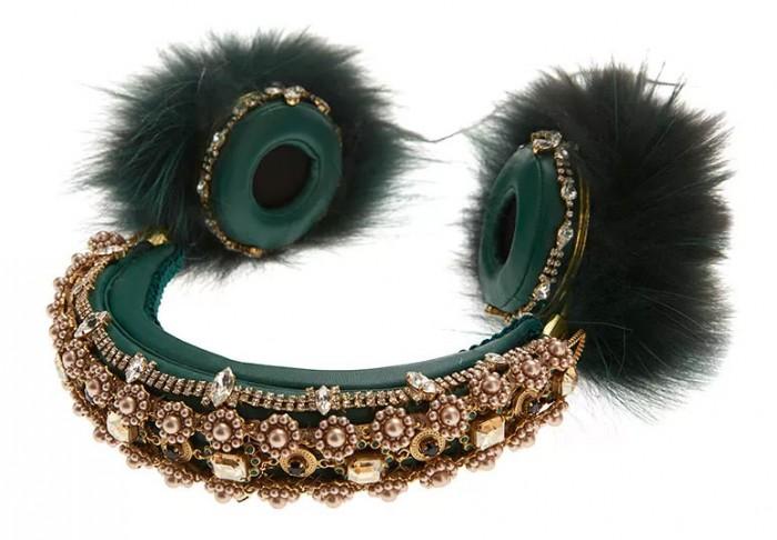 Dolce-&-Gabbana-Fox-Fur-Embellished-Leather-Headphones