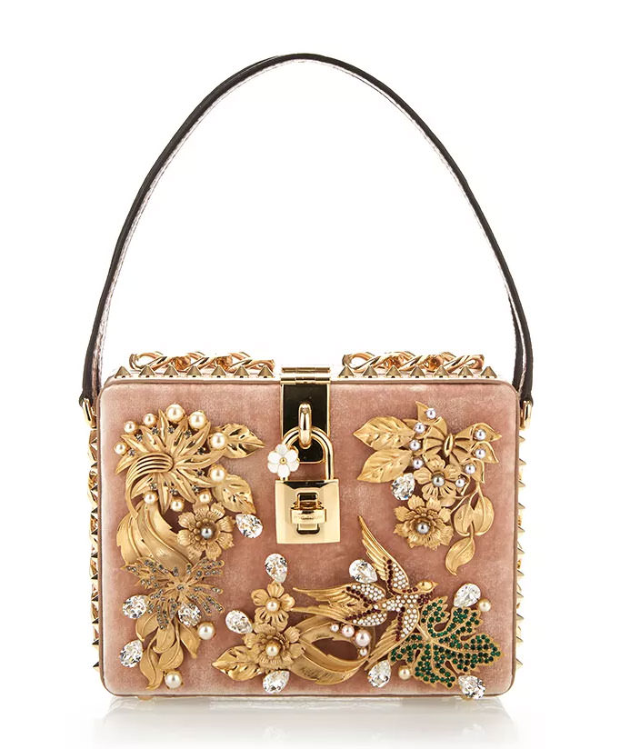 Dolce-&-Gabbana-Nude-Velvet-Cocco-Bag