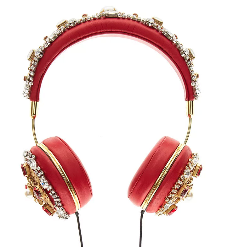 Dolce-&-Gabbana-Red-Embroidered-Nappa-Leather-Headphones