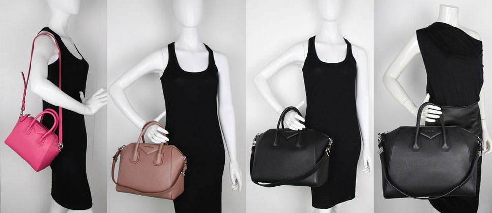 Givenchy-Antigona-Size-Comparison-Mini-Small-Medium-Large-Mannequin