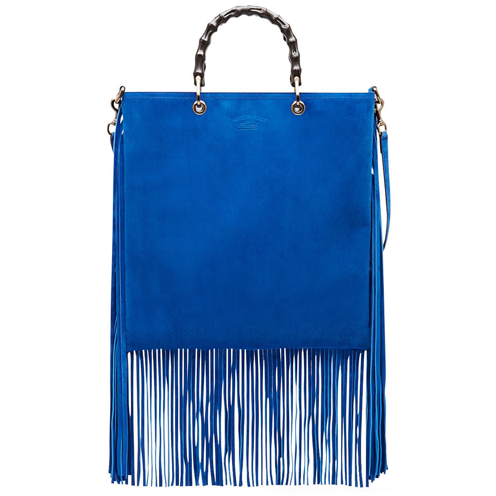 green prada bag - 18 of the Best Fringe Bags for Spring 2015 - PurseBlog