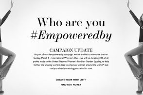 Net-a-Porter to Donate 20% of Today's Profits to Charity for International Women's Day