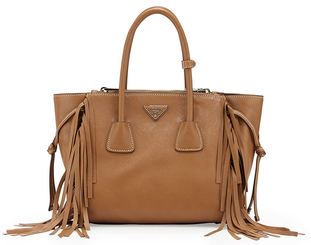 pink prada - 18 of the Best Fringe Bags for Spring 2015 - PurseBlog