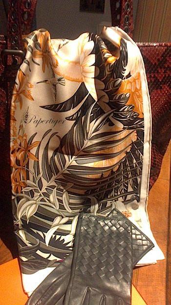 Scarf-and-Bottega-Veneta-Gloves