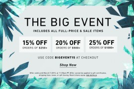Get Up to 25% Off Your Purchase at the ShopBop Big Event!