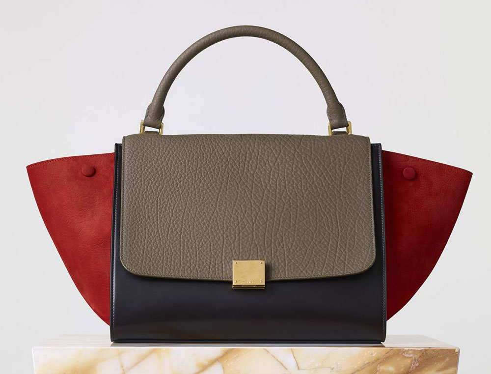 black celine handbag - celine tri-colour trapeze, celine on line