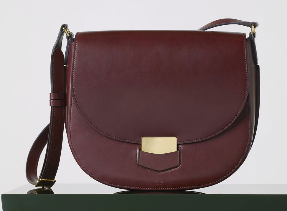 celine burgundy tote bag