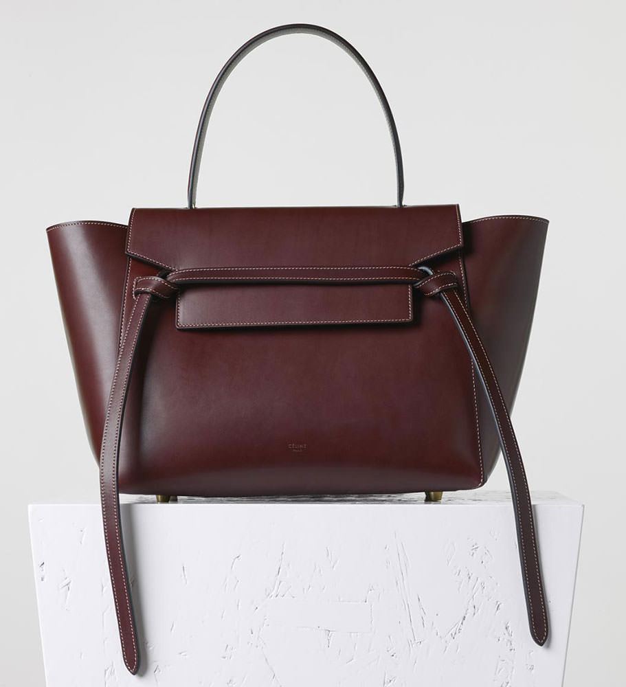 celine burgundy handbag