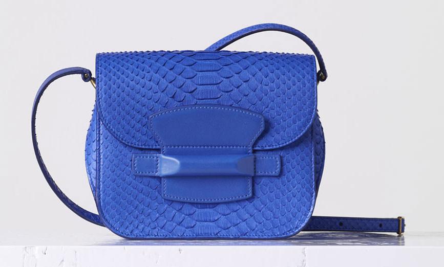 celine blue python bag