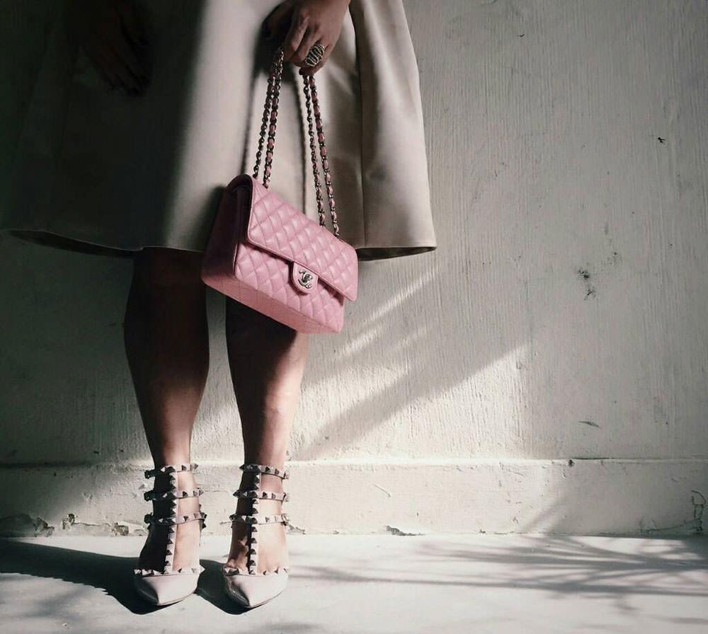 Chanel-Classic-Flap-Bag-and-Valentino-Rockstud-Pumps