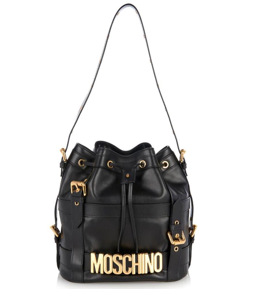 Moschino-Buckle-Bucket-Bag