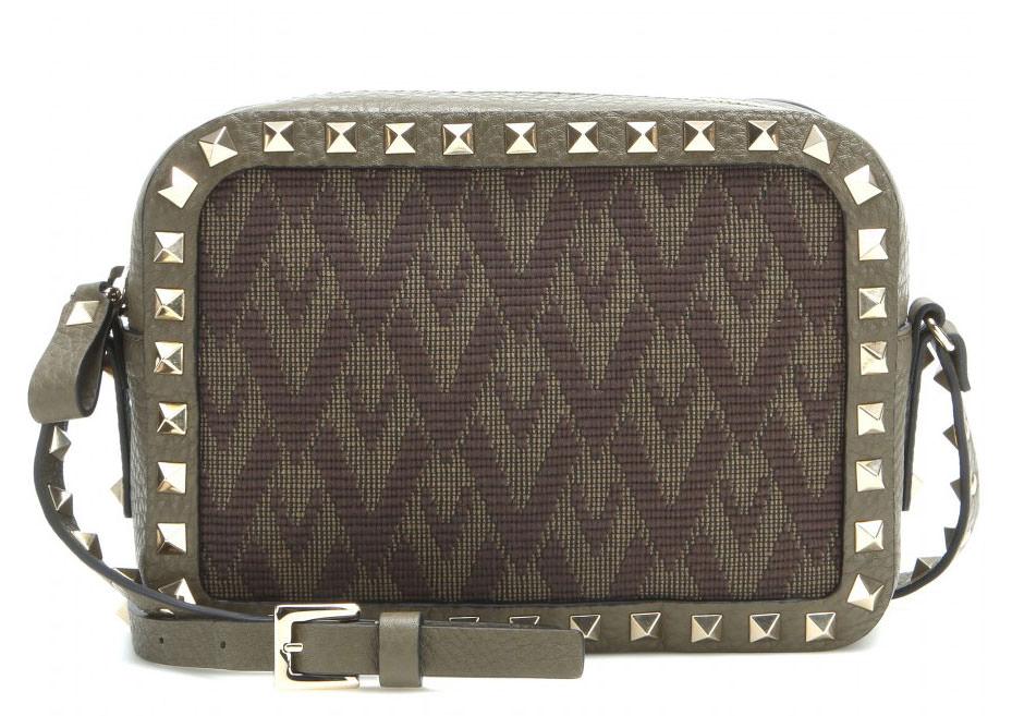 Valentino-Rockstud-Jacquard-and-Leather-Camera-Bag