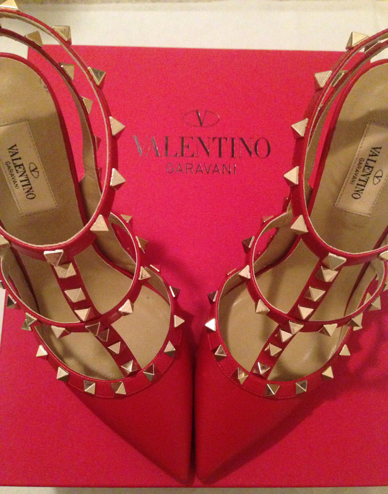 Valentino-Rockstud-Shoes-Red