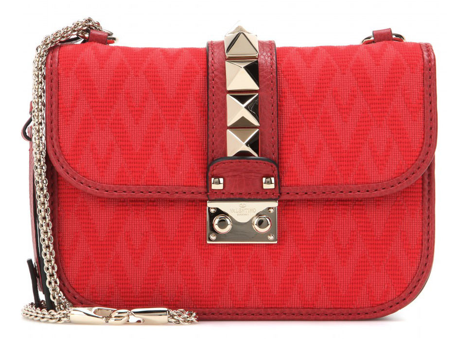 Valentino-Rockstud-Small-Jacquard-and-Leather-Lock-Bag