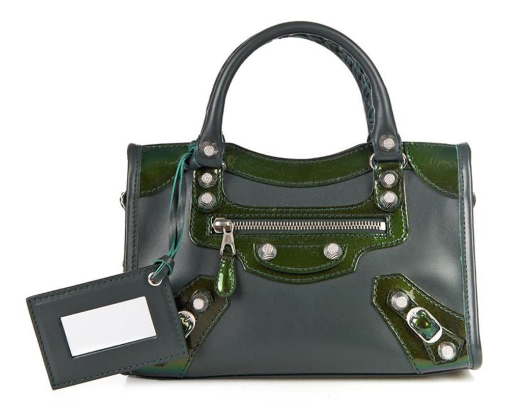 Balenciaga-Bicolor-Giant-Mini-City-Green