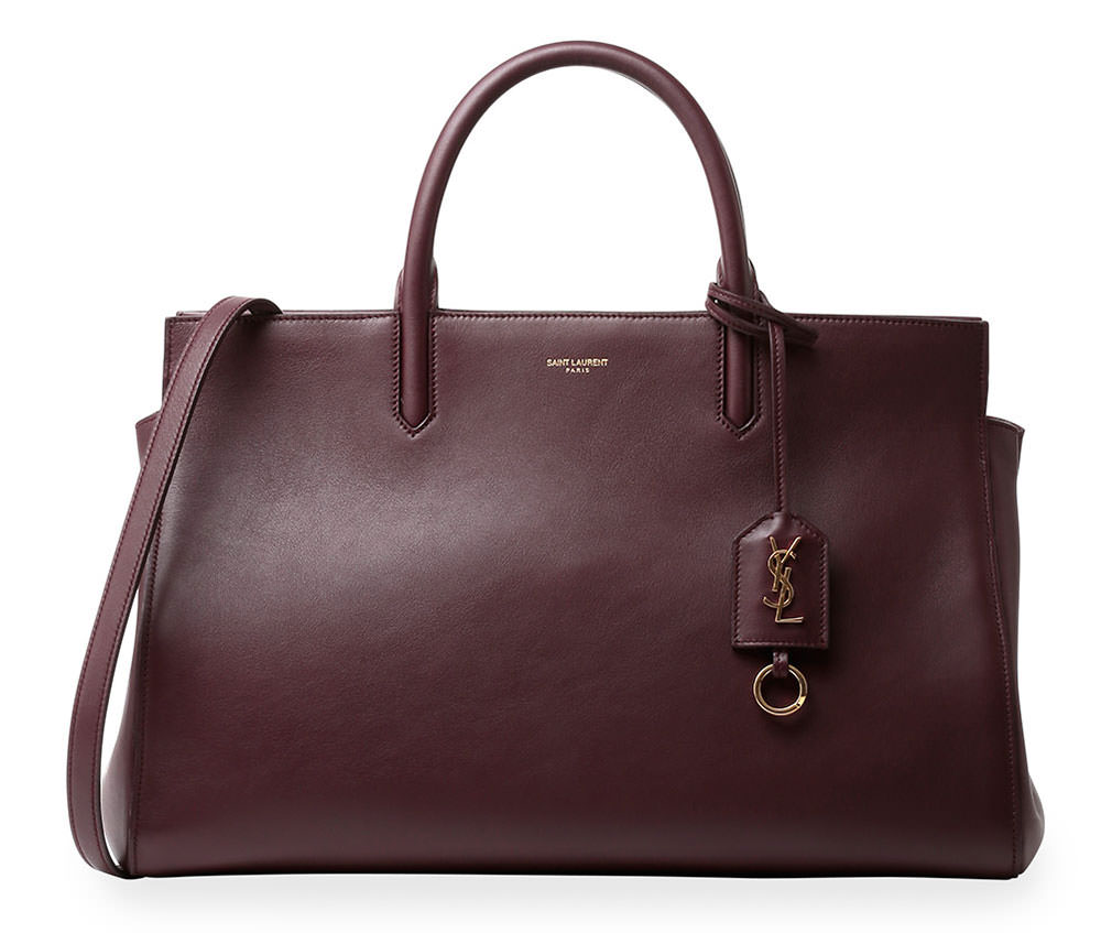 yves saint laurent cabas chyc original leather tote red